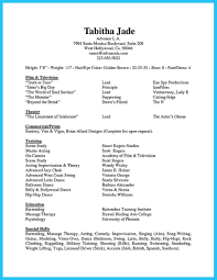 Audition Resume Templates Nice Learning To Write An Audition Resume Acting Resume