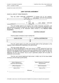 Joint Partnership Agreement Template Joint Venture Agreement Templates Agreement Sample Templates Free 5