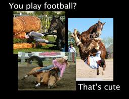 football injuries and horseback riding injuries are often identical but usually the half funny quotescute horse