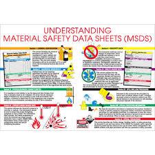 Brady 105611 Rectangle Safety Chart Understanding Msds