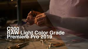 Cinema Raw Light Premiere Pro How To Color Grade Canon C200 Raw Light Footage In Premiere Pro 2019