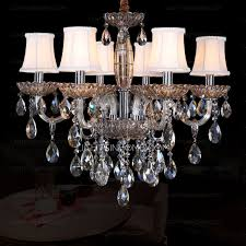 amazing chandeliers and 6 light with fabric shade crystal