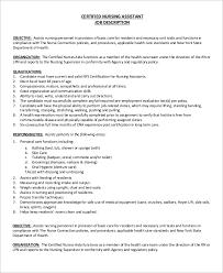 Duties And Responsibilities Of A Cna Sample Cna Job Description 8 Examples In Pdf