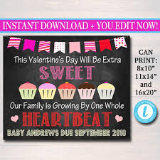 Pregnancy Announcement Printables Editable Valentines Pregnancy Announcement Printable