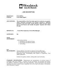 ... hospitality front desk resume samples