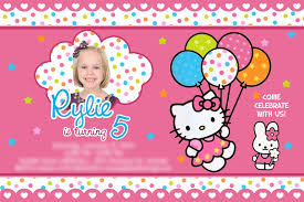 hello kitty birthday invitations com