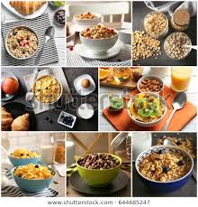delicious food background.  Food Collage Of Delicious Food As Background Ideas For Serving Cereal Breakfast With Delicious Food Background