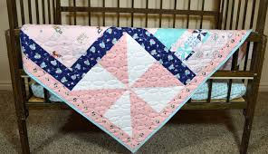 country girl patchwork quilt pinwheel baby girl nursery bedding