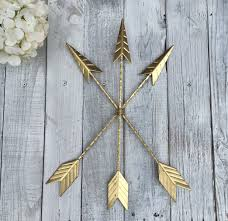 Native American Home Decor Arrow Wall Hanging Gold Arrow Gallery Wall Gold Home