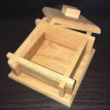 solid oak trinket box small crossed corner style