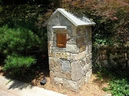 stone mailbox designs. Image Of: Stone Pillar Mailbox Designs I