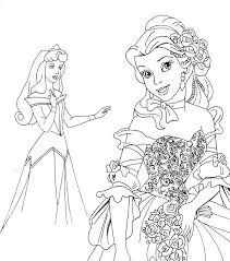 Princess Coloring Pages Printable Free Camelliacottageinfo
