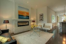 diy electric fireplace living room modern with black and white modern chair