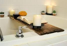 clawfoot tub caddy tray bamboo wooden