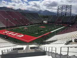 Utah Football Stadium Seating Chart Rice Eccles Stadium Section E37 Rateyourseats Com