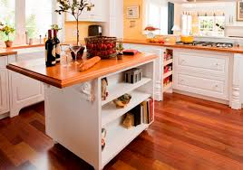white cabinets and african mahogany wood tops