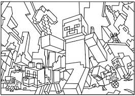 Printable Minecraft Colouring Pages Funycoloring