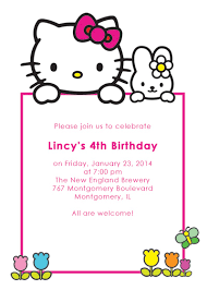 10 Best Photos Of Hello Kitty Party Invitation Template Free