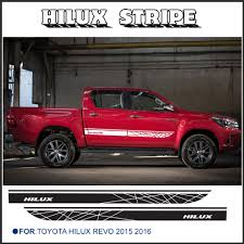 free shipping 2 PC hilux side stripe graphic Vinyl sticker For ...