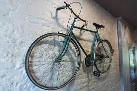 how do you hang a bike on a brick wall