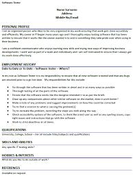 software testing resume samples software tester resume sample resumedoc info