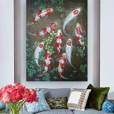 elegant erfly koi painting for