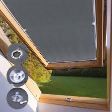 Kinlo Dachfensterrollo Für Velux Dachfenster 60 X 93cm M06 Und 306 Dunkelgrau Beschichtung Verdunkelungsrollo Sonnenschutzrollo Aus Polyester Mit