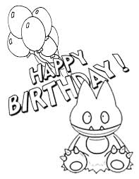 Pokemon With Birthday Balloons Coloring Page H M
