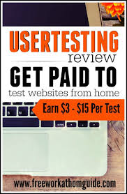best money product testing reviews pitches images on  usertesting is a well known usability testing company that pay testers anywhere from 3 · usability testingwriting jobsmake money onlineonline
