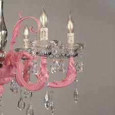 pink chandeliers lighting