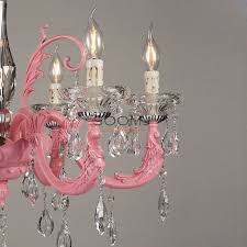 pink chandeliers lighting girls gypsy