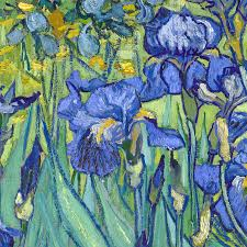 vincent van gogh pure 3d digital oil painting on canvas blue iris painting modern home decoration art wall picture 30 40cm in painting calligraphy from