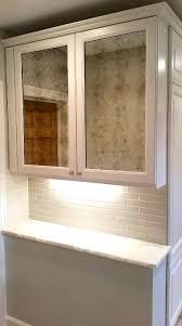 antiqued mirrors kitchen cabinet doors