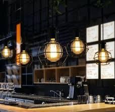pendant lighting bar. Outstanding Restaurant Pendant Lighting Loft Style Industrial Vintage Lamp In Bar Design 9 Commercial Kitchen