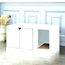 cat litter box furniture white diy plans