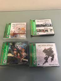 4 sealed ps1 final fantasy origines chrono cross anthology and chrono trigger