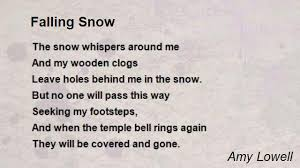 falling snow poem by amy lowell poem