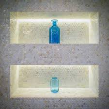 led lighting double home bathroom designs shower niche