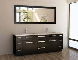 design element moscony double 84 inch modern bathroom vanity set espresso