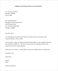9 Sample Accounting Cover Letters Sample Templates