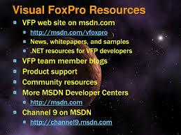 Foxpro Night Light Microsoft Visual Foxpro Roadmap Sedna Ppt Download