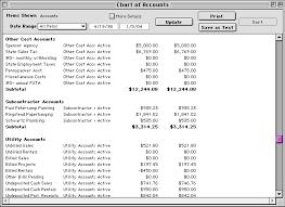 Chart Of Accounts Reports