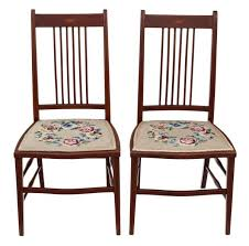 edwardian mahogany bedroom furniture. antique pair of edwardian needlepoint mahogany chairs bedroom side hall furniture