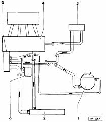 vwvortex com aba coolant flow diagram image reference 1 expansion tank overflow reservoir 2 radiator 3 coolant pump w thermostat 4 engine 5 heater core 6 oil cooler