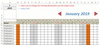 Monthly Tracking Chart Free Excel Leave Tracker Template Updated For 2019