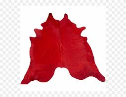 cowhide rug dyed red clipart