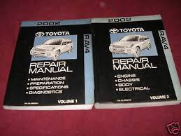 SHOP MANUAL RAV4 Service Repair Toyota Book Chilton Haynes Workshop ...