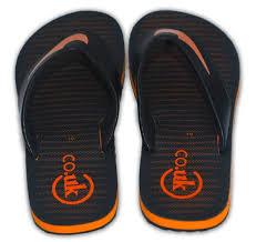 CO.UK <b>High Quality</b> & Stylish <b>Black</b>-Orange Flip Flops for <b>Men</b>