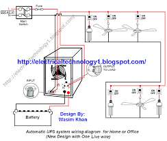 automatic ups inverter wiring connection diagram to the home automatic ups system wiring circuit diagram for home or office new design one live wire