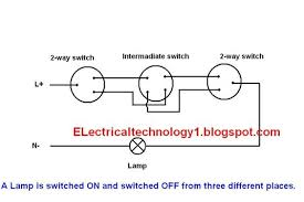 2 way switch electrical lighting wiring diagram how to control one 3-Way Switch Wiring Diagram with Power at Light at Wiring Diagram Three Way Touch Light